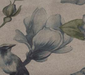 Birds Garden Blue Mantel
