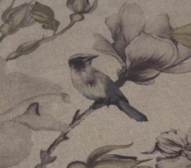 Birds Garden Purple Mantel