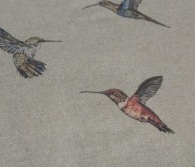 OILCLOTH TABLECLOTH HUMMINGBIRDS ZEN DUCK EGG