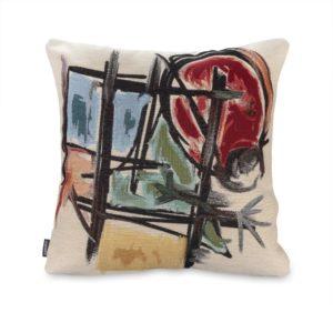 Funda de Cojín Mujer Pájaro, colección Miró