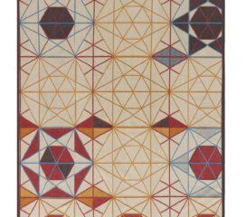 Alfombra rectangular Hexa Orange de GAN Rugs