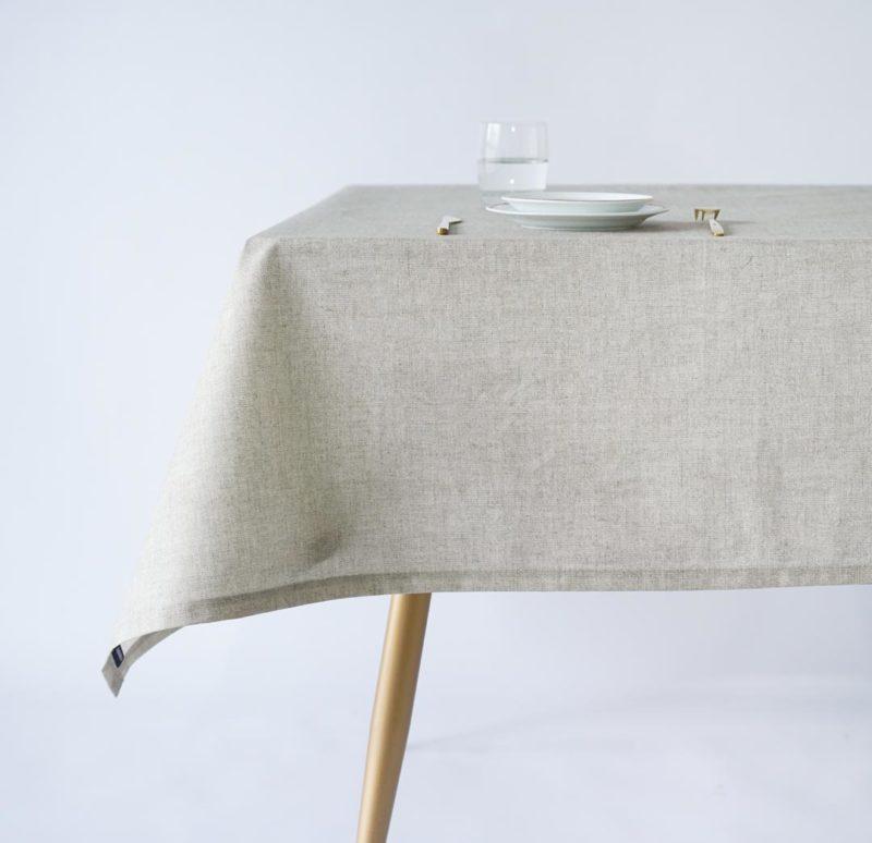 Oilcloth tablecloth COTTON NATURAL TEXTURES