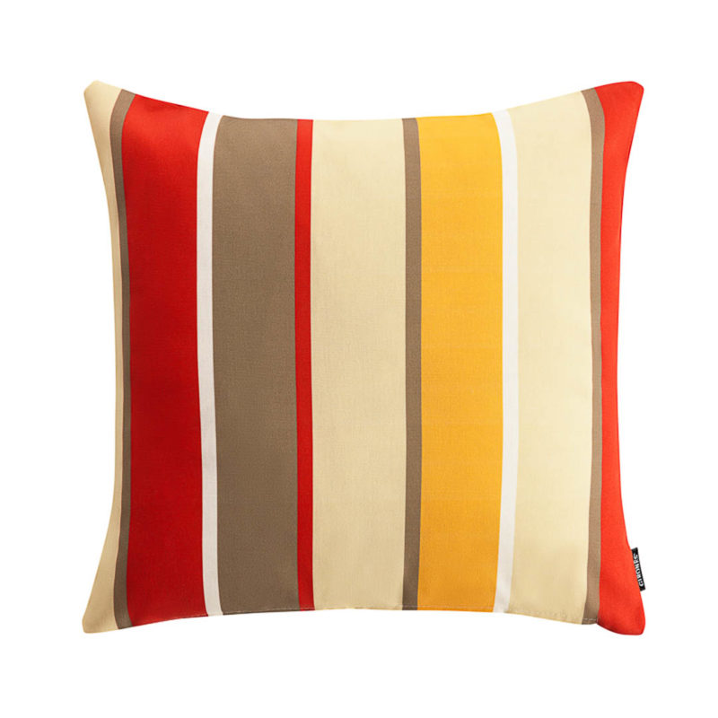 Outdoor Botanic Stripe Red Cushion Cover