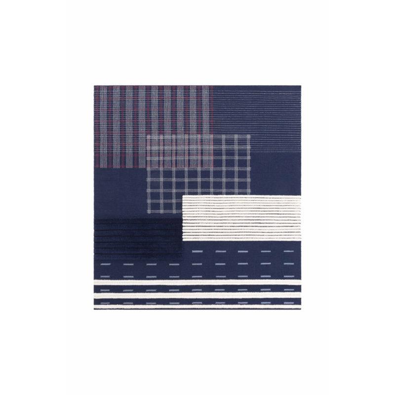 lan rug square indigo