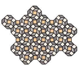 Alfombra Kilim Rhomb pequeña de parquet amarillo de Gan Rugs