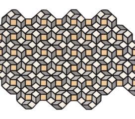 Alfombra Kilim Rhomb Grande de parquet amarillo de Gan Rugs