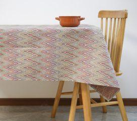Oilcloth tablecloth SANTORINI TEFLON