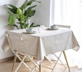Oilcloth tablecloth VINTAGE TARTAN GREY