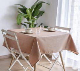 Oilcloth tablecloth ZEN ANTIQUE KUMQUAT