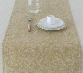 Table runner Zen Scroll Mustard