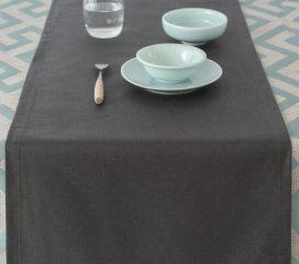 Table runner Zen Anthracite