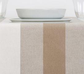 Mantel ZEN VELVET Stripe Crema