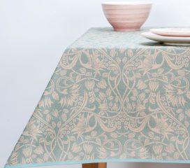ZEN SCROLL Duck Egg Oilcloth Tablecloth